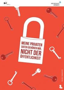 IT-Sicherheit durch Security Awareness Plakat Datenschutz