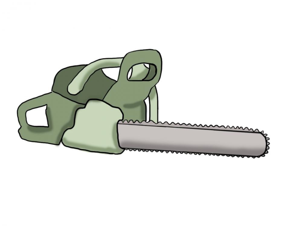 Kettensäge Illustration