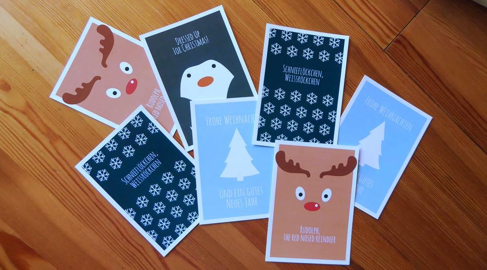 Weihnachtskarten zum kostenlosen Download