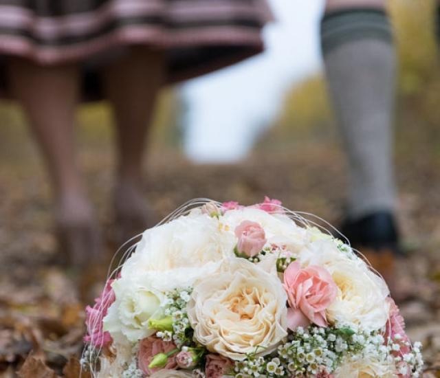 Natürliche Hochzeitsfotos Eichstätt Herbst