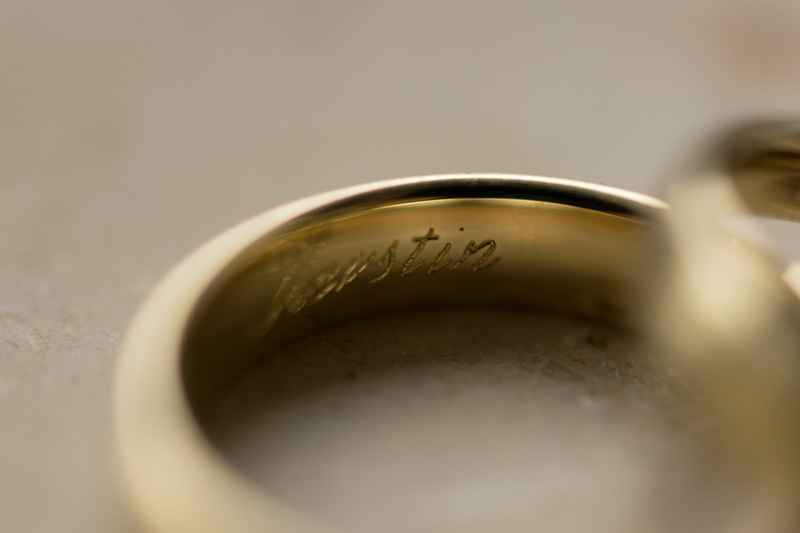 Hochzeitsfotografie Gravur Ehering
