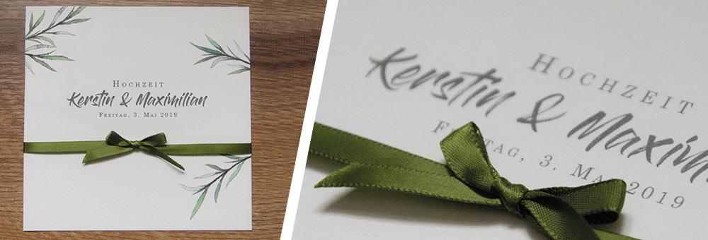 Hochzeitspapeterie Green Dream