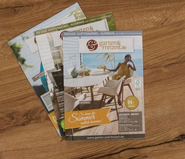 Prospekte Grafikdesign und Layout für Gartenmöbel