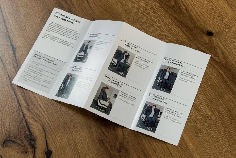 Flyer Fitnessübungen und Gesundheit für die Audi AG
