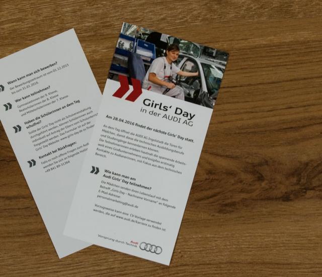 Flyer Design Grafikdesign Girls Day Audi