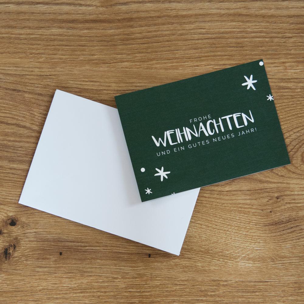 Weihnachtskarte tannengrün
