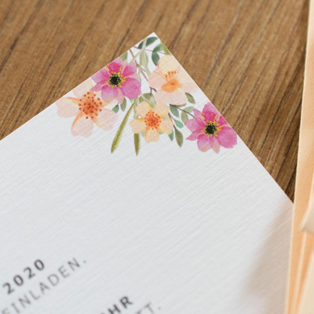 Hochzeitseinladung: Apricot Blossom