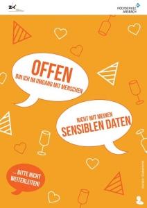 IT-Sicherheit durch Security Awareness Plakat Sensible, persönliche Daten