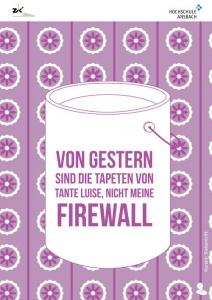 IT-Sicherheit durch Security Awareness Plakat Firewall regelmäßig updaten