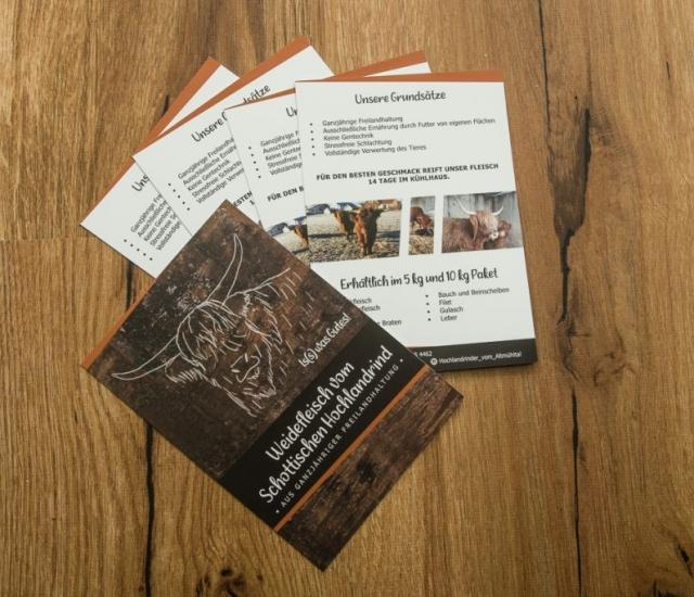 Flyer Weidefleisch Hochlandrinder vom Altmühltal